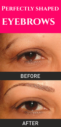 Brows - before and after