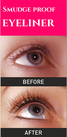 Eyeliner - before and after